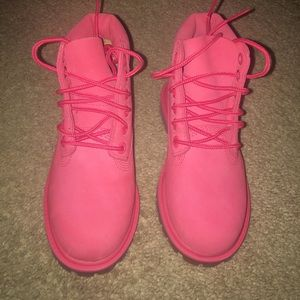 Toddler Timberland Boots Pink Waterproof Size 10